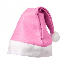 Bonnet de Noël Rose