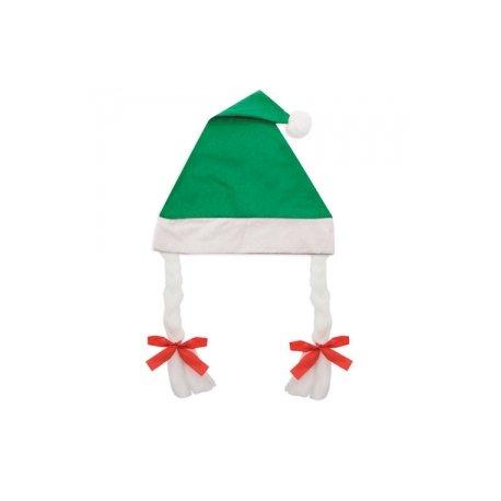 Bonnet de Noël à Tresses Vert