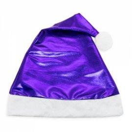 Bonnet de Noël Bleu Métallisé