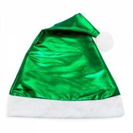 Bonnet de Noël Vert Métallisé