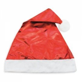 Bonnet de Noël Rouge Métallisé