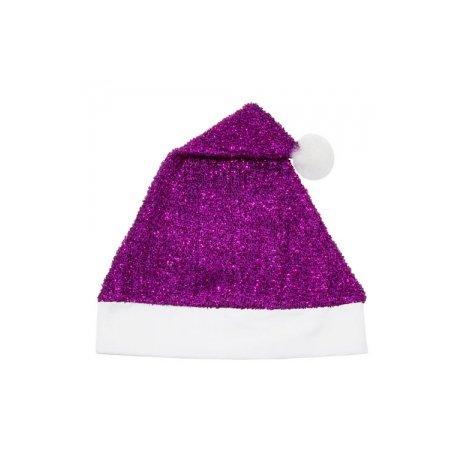 Bonnet de Noël Violet Paillettes